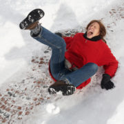 Whitlock Insurance protect against slips - falls on ice